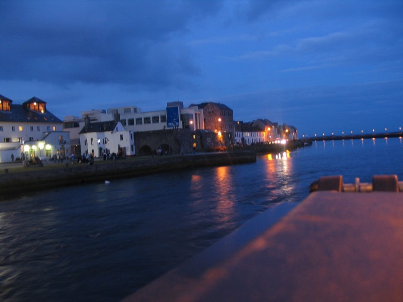 Galway with evening setting in- 11 pm in summer