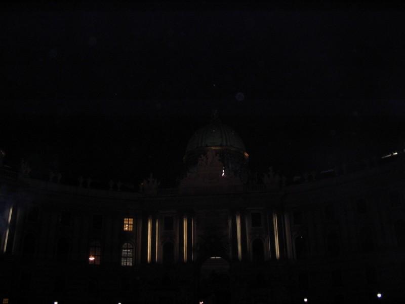 Hofburg Palace at night