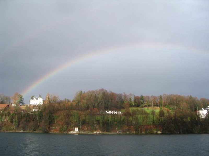 Rainbow over Lake Lucerne