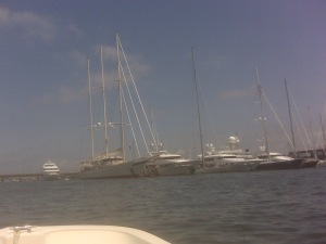Some of the many boats