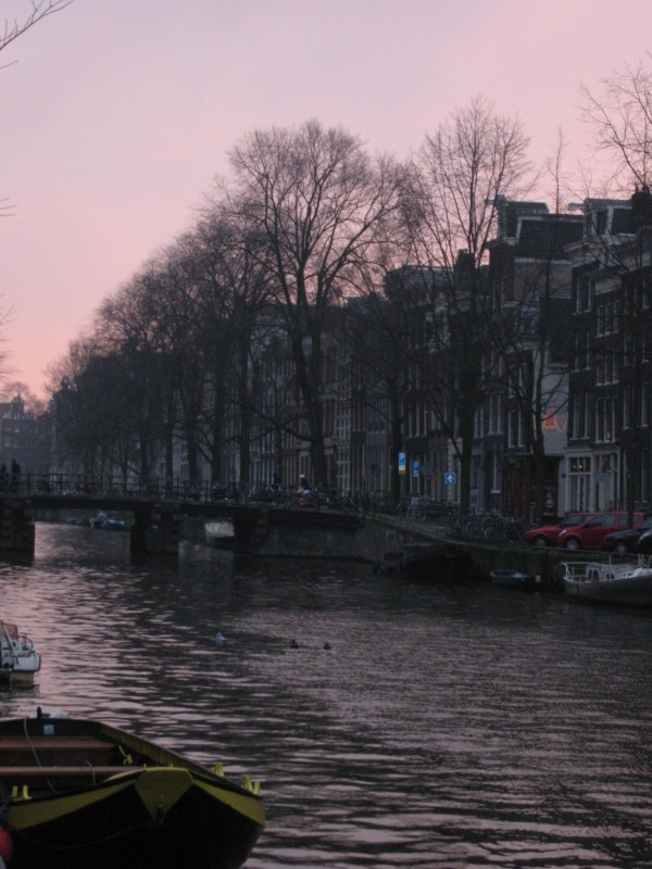 Amsterdam at sundown