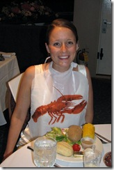 wedding-bride in a bib